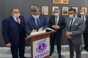 Milletvekillerimiz (Orman ve Su İşleri Bakanı) Sn.Veysel EROĞLU, Sn. Ali ÖZKAYA, Sn. İbrahim YURDUNUSEVEN ile İl Başkanı Sn.Hüseyin Ceylan ULUÇAY ve beraberlerindeki heyete teşekkür ederiz