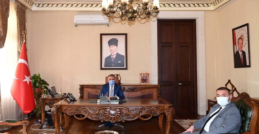 Antalya Valisi Sayın Ersin YAZICI' ya ziyaret