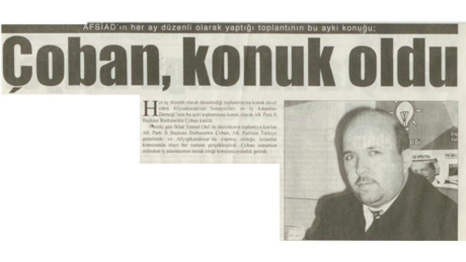 ÇOBAN, KONUK OLDU - SÖZCÜ GAZETESİ 12 OCAK 2007