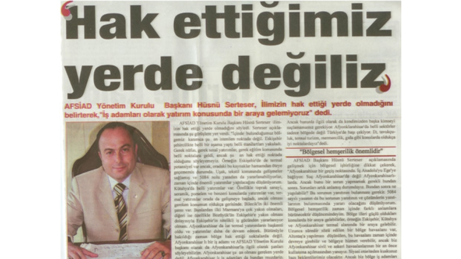 HAK ETTİĞİMİZ YERDE DEĞİLİZ- KURTULUŞ GAZETESİ 10 ŞUBAT 2007