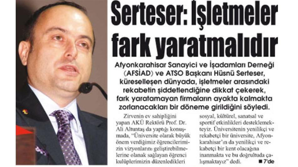 'Serteser:İşletmeler fark yaratmalıdır.-Gazete3-12.Mart.2009'