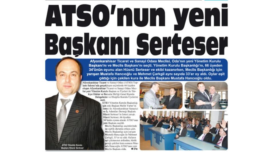 'ATSO''nun yeni Başkanı Serteser- Gazete3- 28.Şubat.2009',