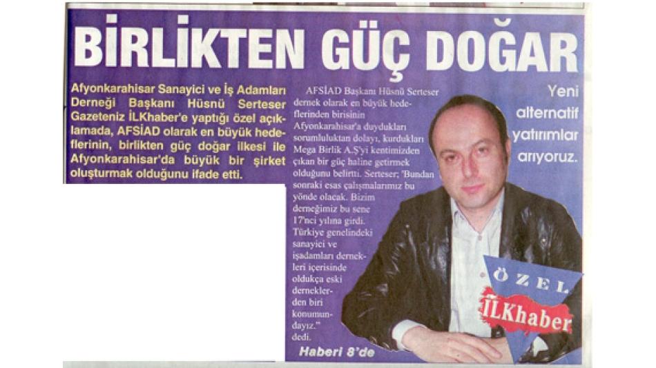 BİRLİKTEN GÜÇ DOĞAR - İlkhaber Gazetesi - 24.Mart.2008