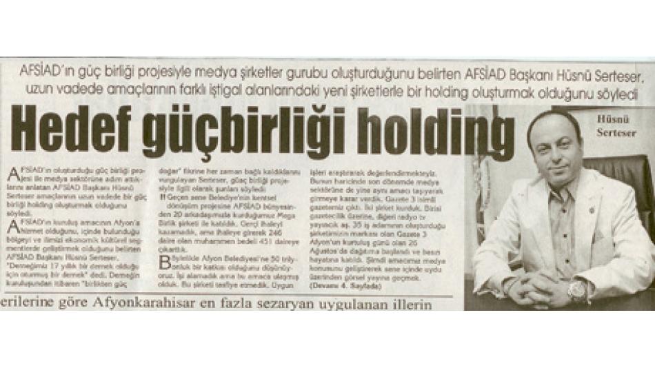 Hedef Güçbirliği Holding - Kocatepe Gazetesi -18.Eylül.2008