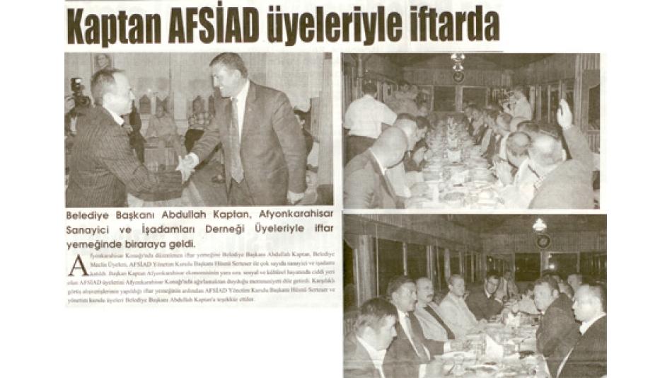 Kaptan AFSİAD Üyeleriyle İftarda buluştu - Görüntü Gazetesi-24.Eylül.2008