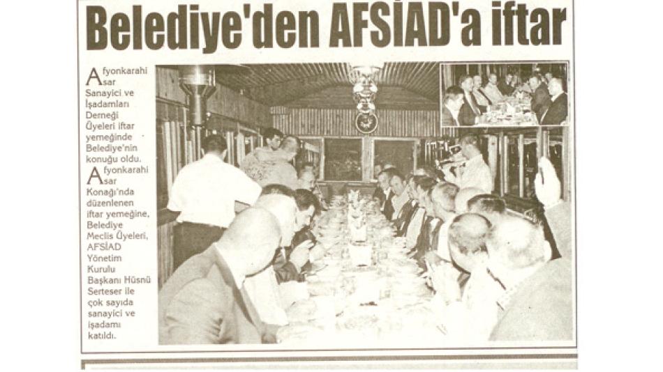 Belediye''den AFSİAD''a iftar - Kocatepe Gazetesi -24.Eylül.2008