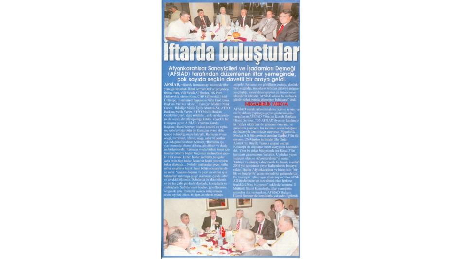 İftarda Buluştular - Gazete3 - 19.09.2008