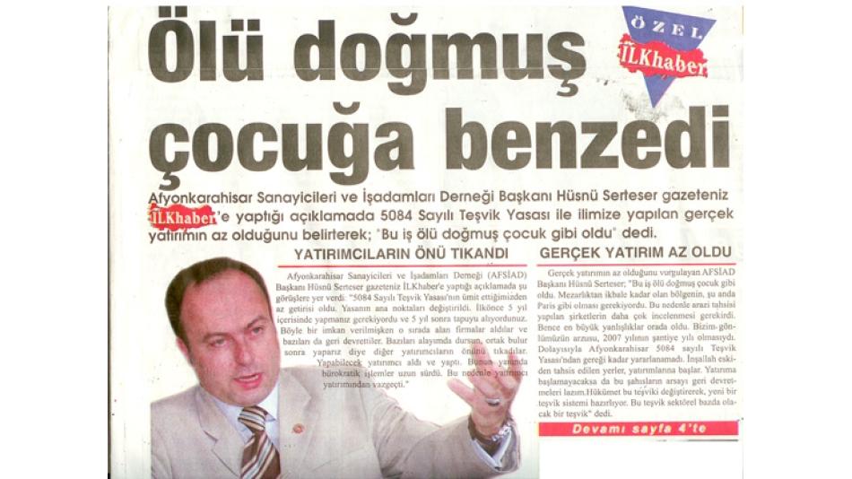 İLKHABER GAZETESİ - 28.Nisan.2008