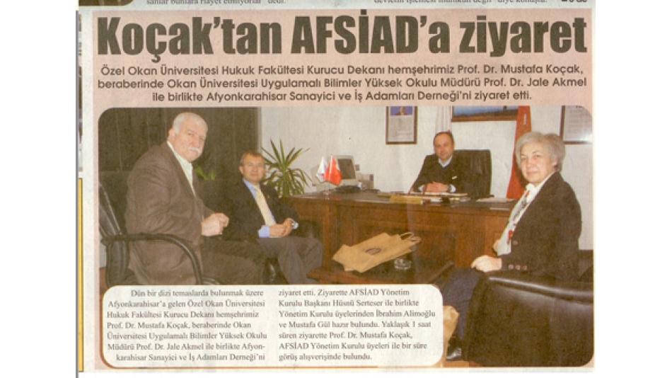 Koçak''tan AFSİAD''aziyaret - Gazete3 - 09.Ocak.2009