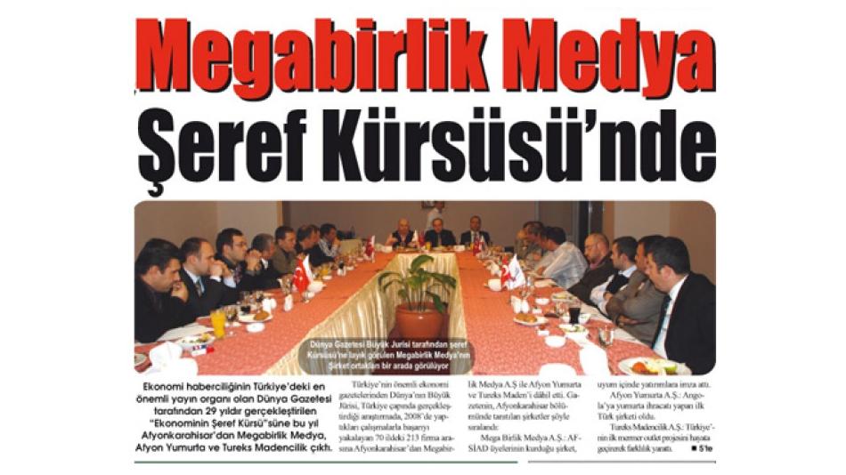 'Megabirlik Medya Şeref Kürsüsü''nde-Gazete3-07.Mart.2008'