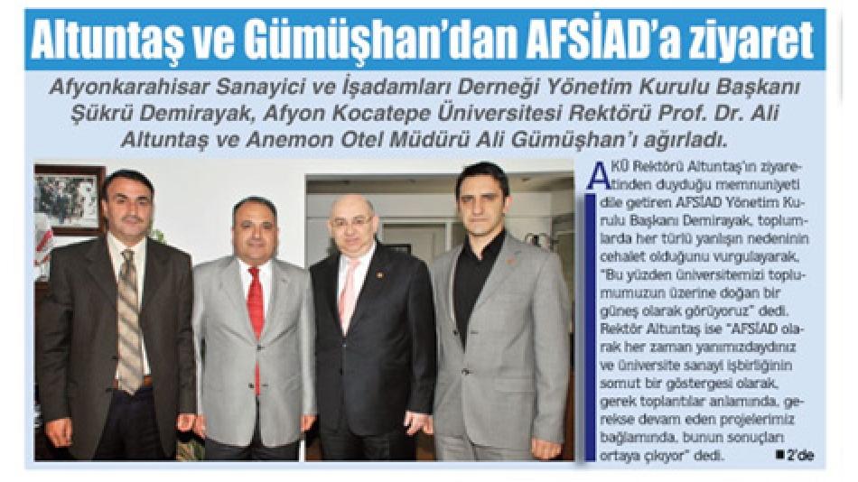 Altuntaş ve Gümüşhan''dan AFSİAD''a ziyaret- Gazete3-23.Mayıs.2009'
