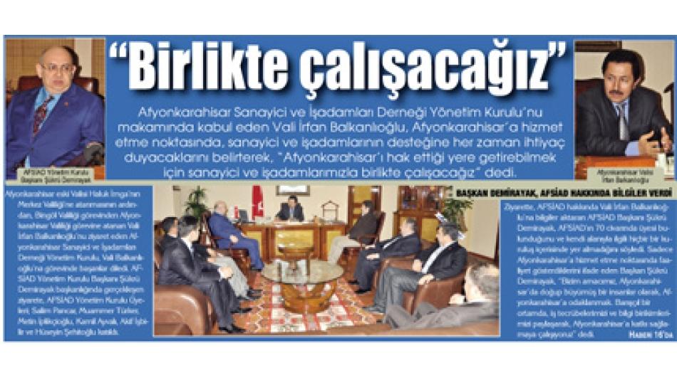 """""""BİRLİKTE ÇALIŞACAĞIZ"""" Gazete3- 13.Ocak.2011',"""