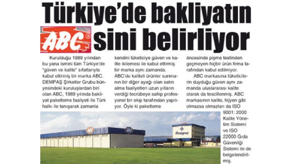 TÜRKİYEDEKİ BAKLİYATIN ABCSİNİ BELİRLİYOR - Gazete3 - 12.02.2009'