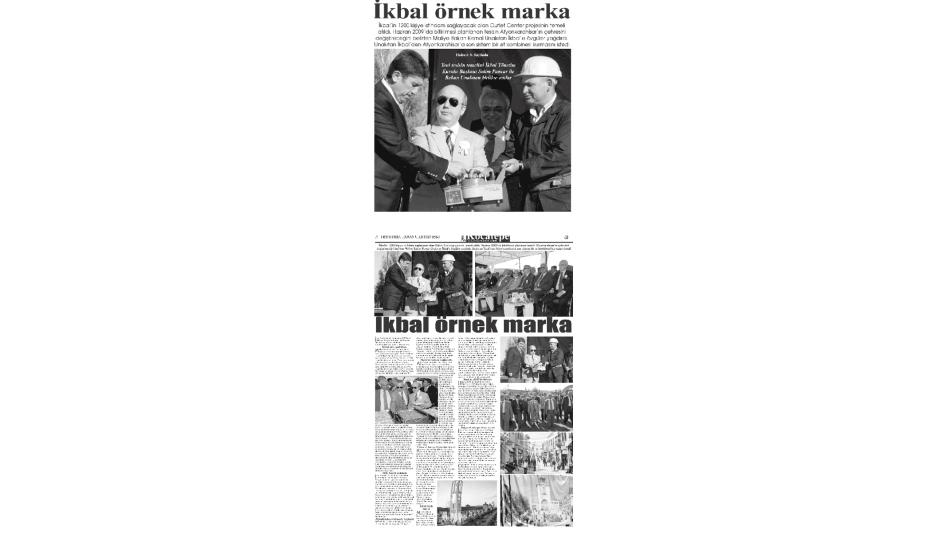 İkbal Örnek Marka - Kocatepe Gazetesi - 05.Temmuz.2008'