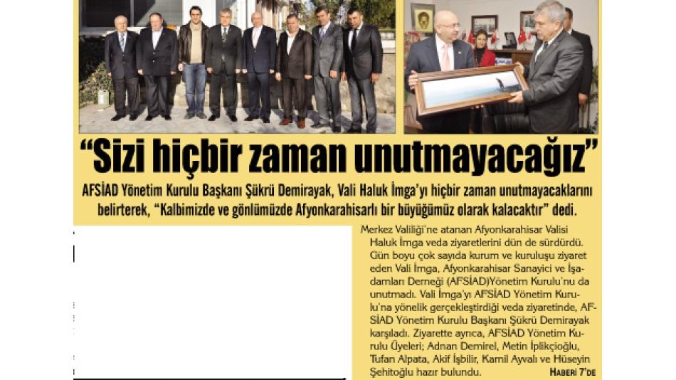 'Sizi hiç bir zaman unutmayacağız - Gazete3 - 23.Aralık.2010