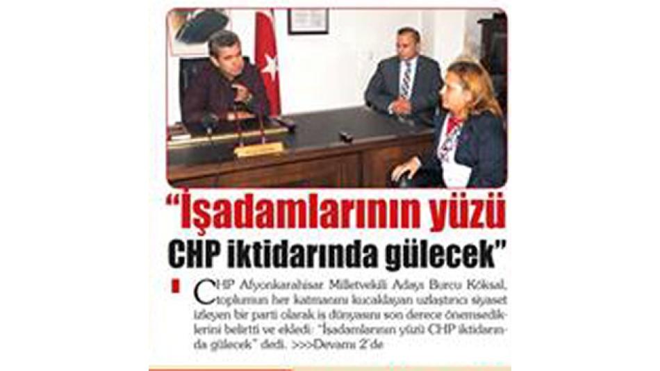 CHP Afyonkarahisar Milletvekili Adayları AFSİAD'ı ziyaret etti .21.Ekim.2015