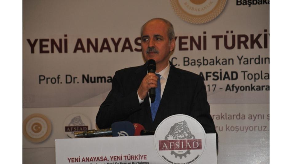 AFSİAD TC.BAŞBAKAN YARDIMCISI PROF.DR.NUMAN KURTULMUŞ'U AĞIRLADI.10.ŞUBAT.2017