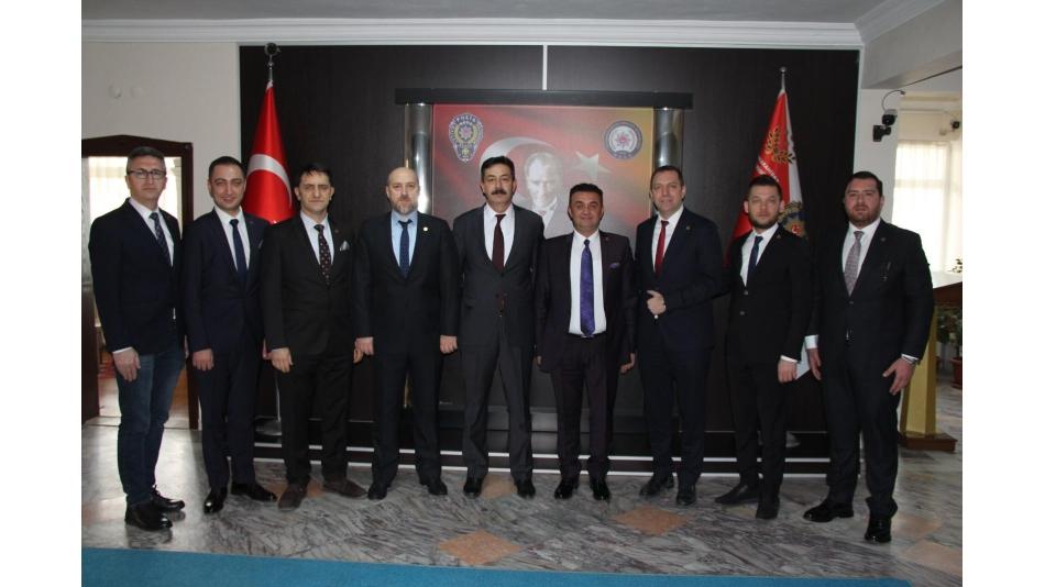 AFSİAD İL EMNİYET MÜDÜRÜ ALİ TEMİZ'İ ZİYARET ETTİ. 3 Şubat 2020